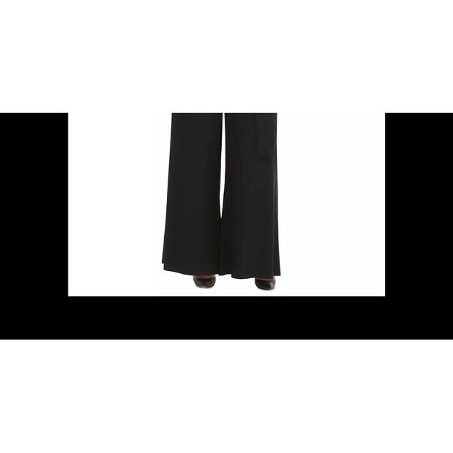 Tommy Hilfiger Women's Size Ruffled Jersey Jumpsuit Black Size 18W