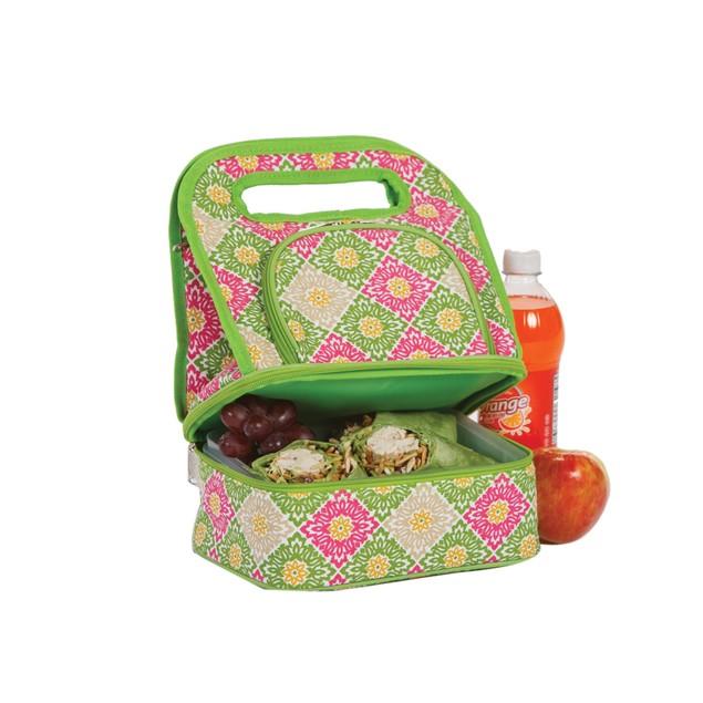 Picnic Plus Savoy Lunch Bag Green Gazebo
