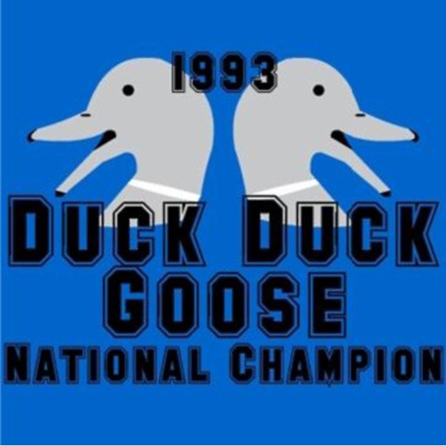 1993 Duck Duck Goose National Champion T-Shirt
