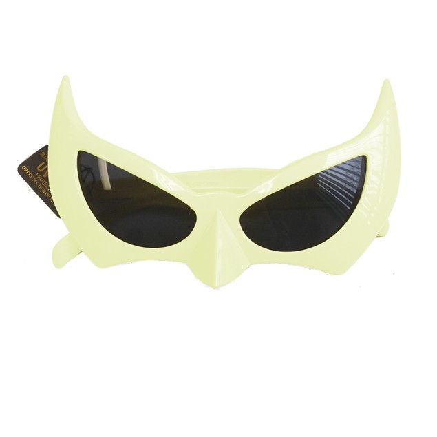 Batman Sunglasses White Batgirl Catwoman Bat Cat Style Superhero Costume