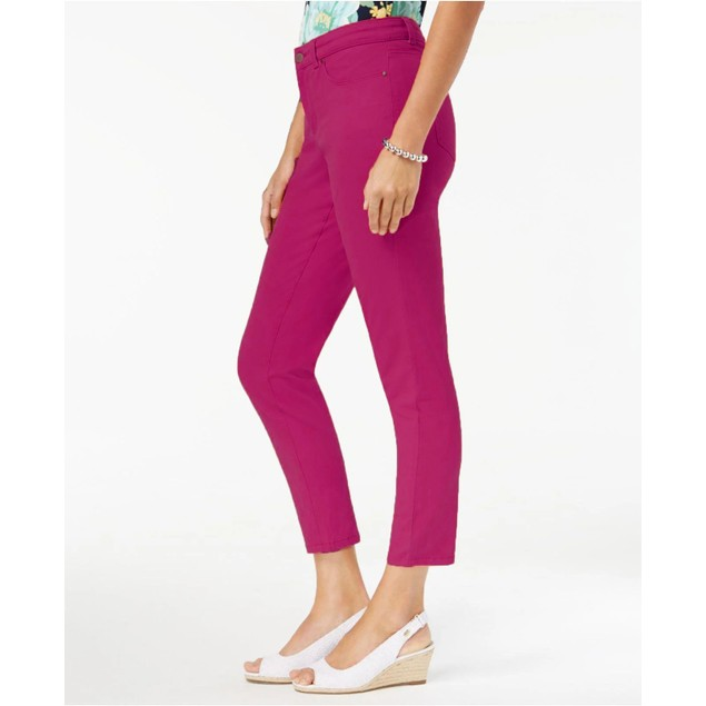 Charter Club Women's Bristol Skinny Ankle Jeans Pink Size Square 18