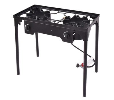 Costway Double Burner Gas Propane Cooker Outdoor Camping Picnic Stove Stand Was: $159.99 Now: $119.99.