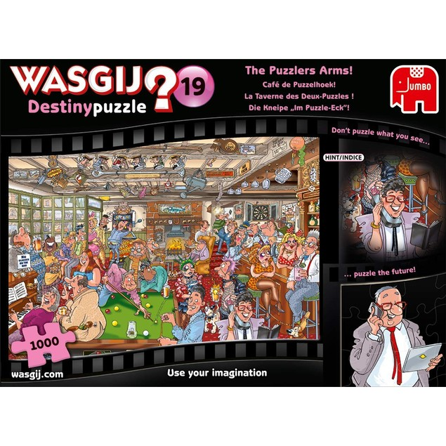 Jumbo Wasgij Destiny 19 - The Puzzlers Arms 1000 Piece Jigsaw Puzzle