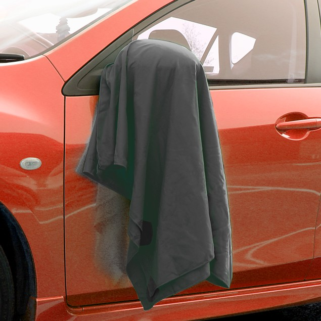 Quick Drying Microfiber Towel | Pukkr Black Large (90x180cm)