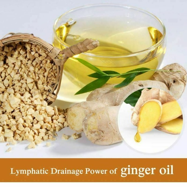 2 Pcs Massage Oil Pure Plant Therapy Lymphatic Drainage Ginger Essence