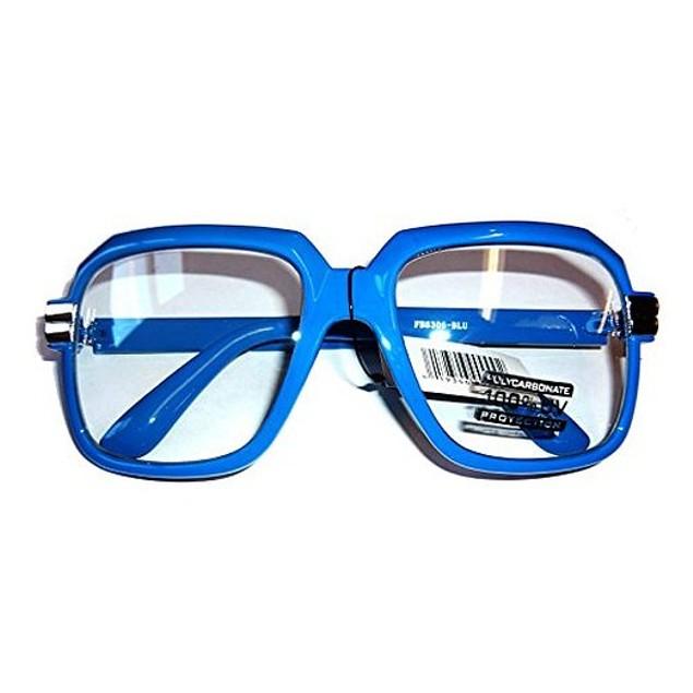 Oversized Blue Hip Hop Glasses
