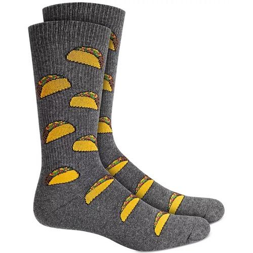 Bar III Men's Taco Socks Dark Gray Size Regular