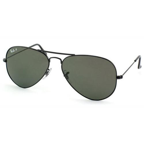 Ray-Ban Aviator Large Polarized Unisex Sunglasses RB3025-002/58-58