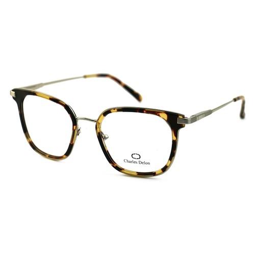 Charles Delon Women's Eyeglasses MK003 C2 Havana Brown 51 20 140 Square Plastic