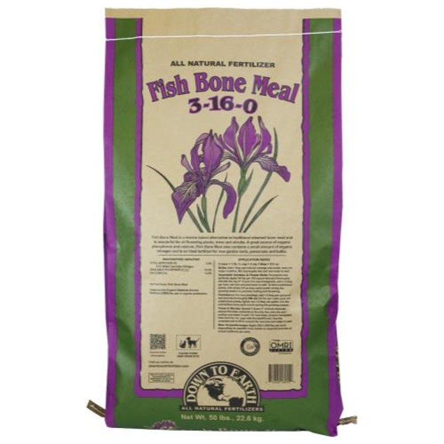 Down To Earth Fish Bone Meal - 50 lb