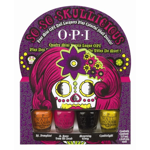 "Opi So So Skullicious Mini Polish ""Dia De Los Muertos""+ Free Nail Decals"