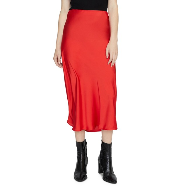 Sanctuary Women's Everyday Midi Skirt Bright Red Size Small