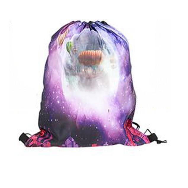Hot Air Balloons Galaxy Drawstring Backpack