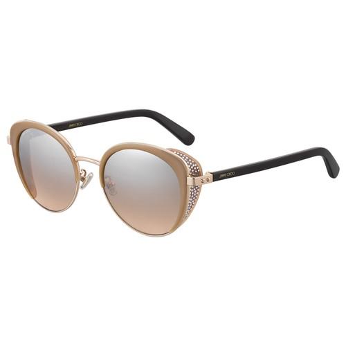 Jimmy Choo Womans Sunglasses JCHGABBYFS 0FWM Nude Roun/Oval Gradient/Mirror
