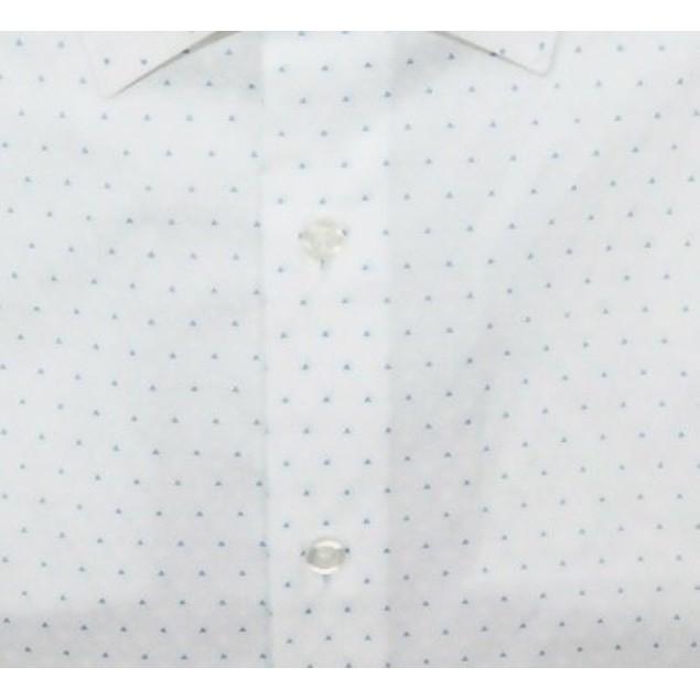 Alfani Men's Dress Shirt Slim Fit Triangle-Print White Size 14-32-33