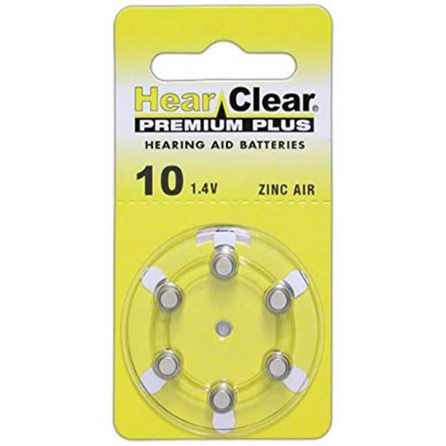 HearClear Size 10 MF Zinc Air Hearing Aid Batteries (60 pack)