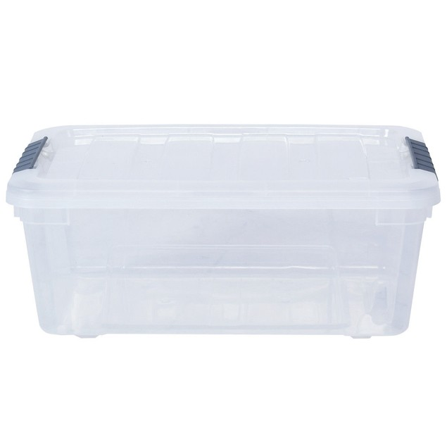 Costway 12 Pack Latch Stack Storage Box Tubs Bins Latches Handles