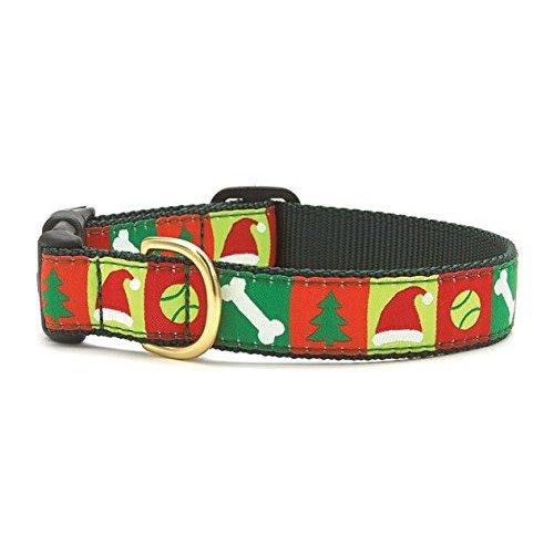 """Up Country- Christmas List Style Dog Collar Medium (12-18""""); Wide 1"""""""