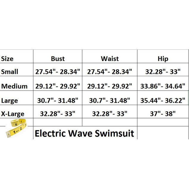 Electric Wave Swimsuit