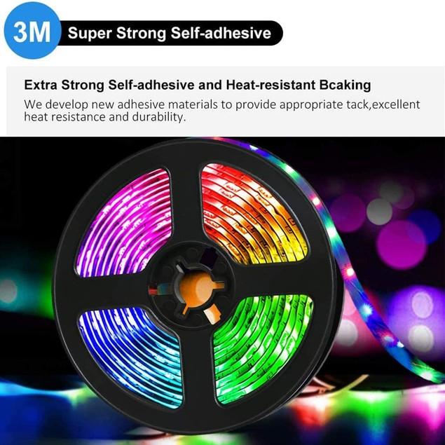 LED Strip Lights 32.8 feet RGB Strip Lights with 44 Keys IR Remote for Ceiling Bar Counter Cabinet Lighting Decoration