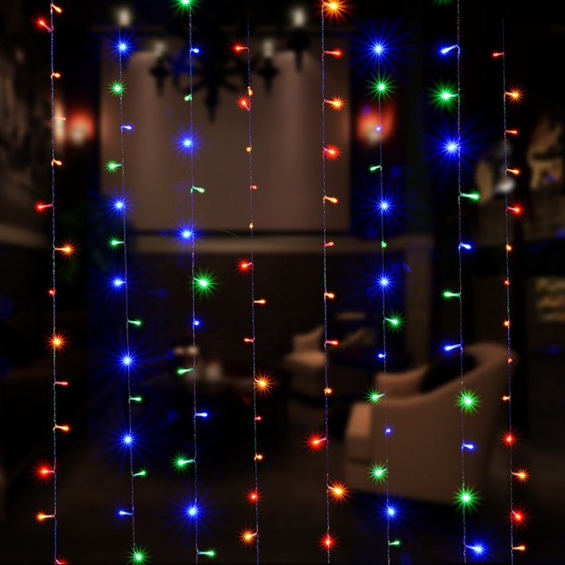 CURTAINS LIGHT 3MX3M 300 LED 8 MODEL WITH MEMORY FUNCTION FAIRY LIGHTS