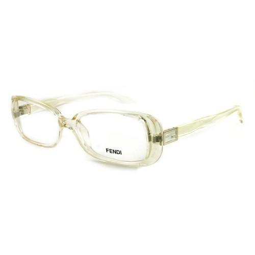 Fendi Women Eyeglasses FF898 000 Clear 51 15 140 Full Rim Rectangle
