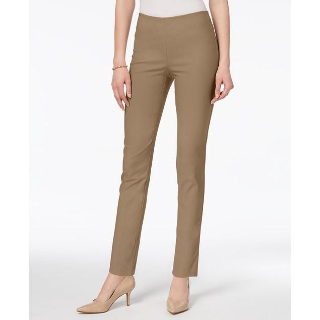 Charter Club Women's Chelsea Petite Tummy-Control Ankle Pants Honey Size 0