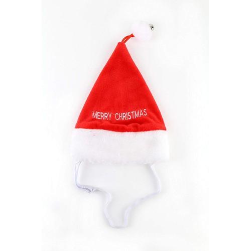 Midlee Large Merry Christmas Jingle Bell Dog Santa Hat
