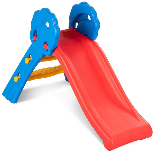 Costway Children Kids Junior Folding Climber Play Slide Indoor Outdoor Toy