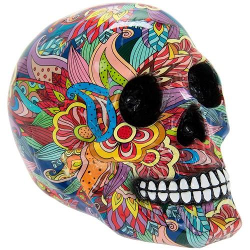 Groovy Art Skull Large Ornament