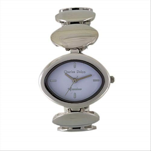 Charles Delon Women's Watches 5126 LPWS Silver/Silver Stainless Steel Quartz Oval