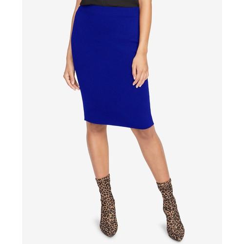 Rachel Roy Women's Pencil Sweater Skirt Blue Size X-Small