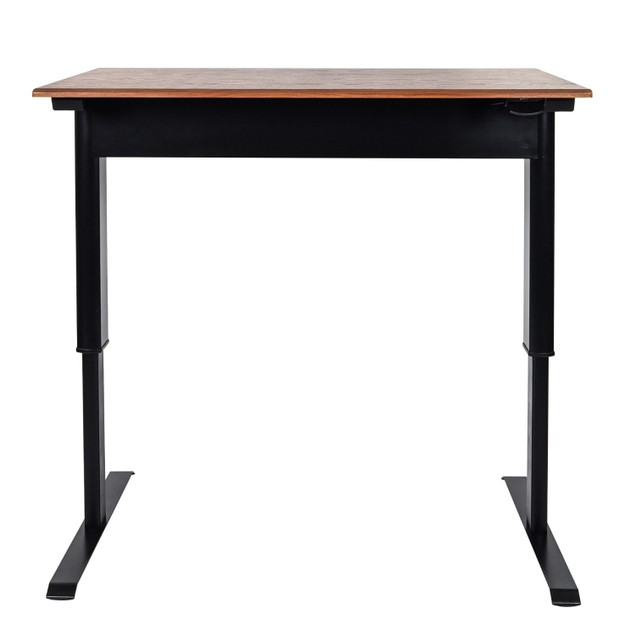 """Luxor 48"""" Pneumatic Adjustable Height Standing Desk - Teak"""