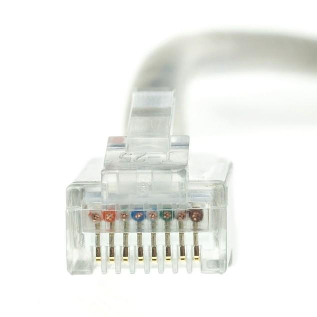 Plenum Cat5e Gray Ethernet Patch Cable, 5 foot
