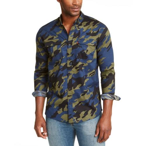 Levi's Men's Newski Camouflage Shirt Green Size XX Large