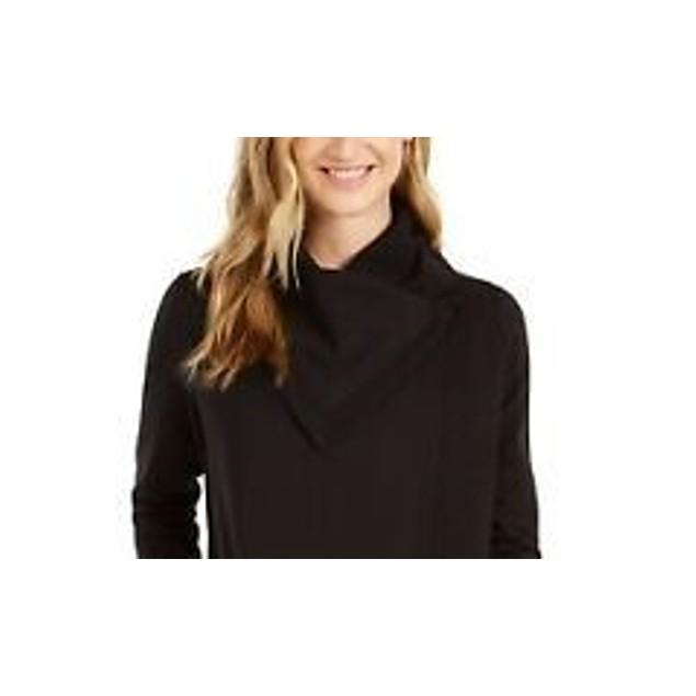 Ideology Women's Snap Front Wrap Black Size Medium