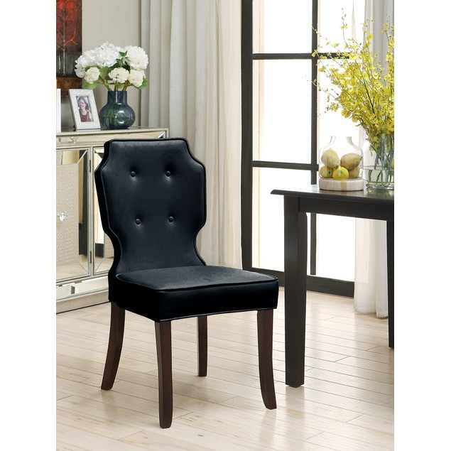 Chic Home McCartney PU Leather Dining Side Accent Chair, Set of 2