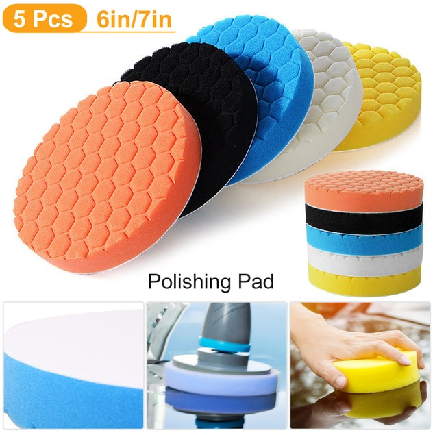 5pcs Car Polishing Sponge Pads Auto Waxing Buffing