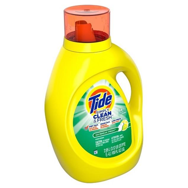 Tide Simply Clean & Fresh Daybreak Fresh HE Liquid Laundry Detergent 100 oz