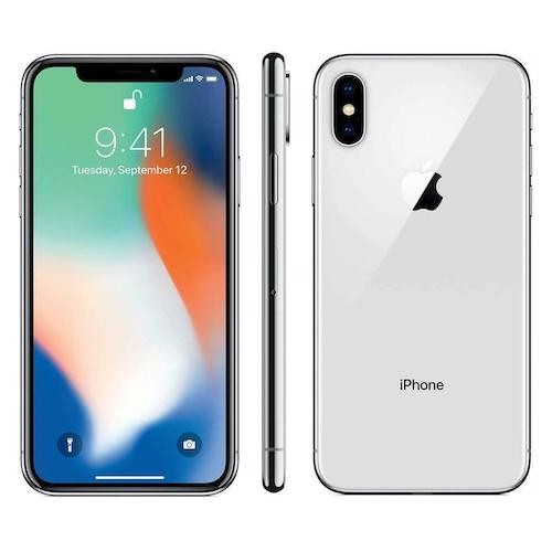 Apple iPhone X - 256GB - Factory GSM Unlocked T-Mobile AT&T 4G LTE Silver - B Grade
