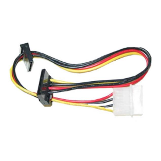 Molex Dual SATA Power Cable,  Dual Serial ATA Female, 14 inch