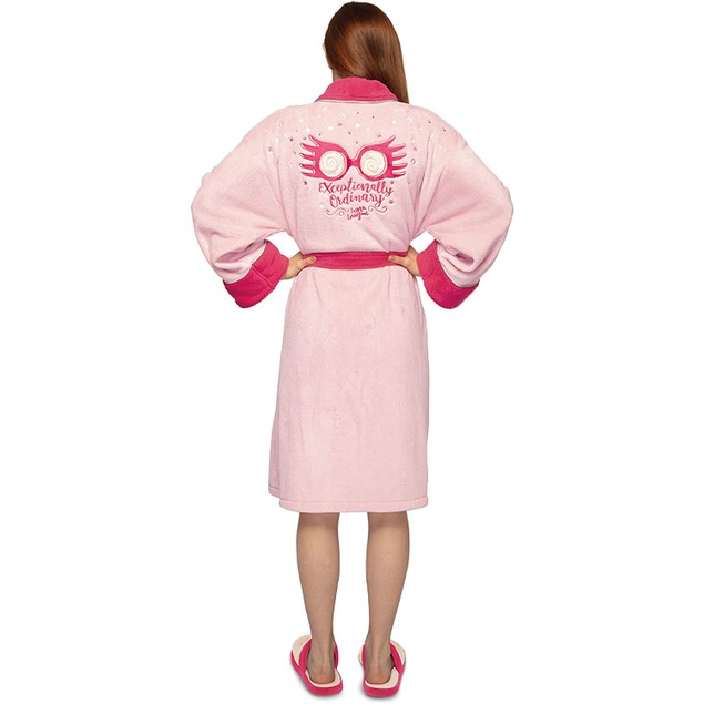 Harry Potter Luna Lovegood Ladies Dressing Gown Robe Pink