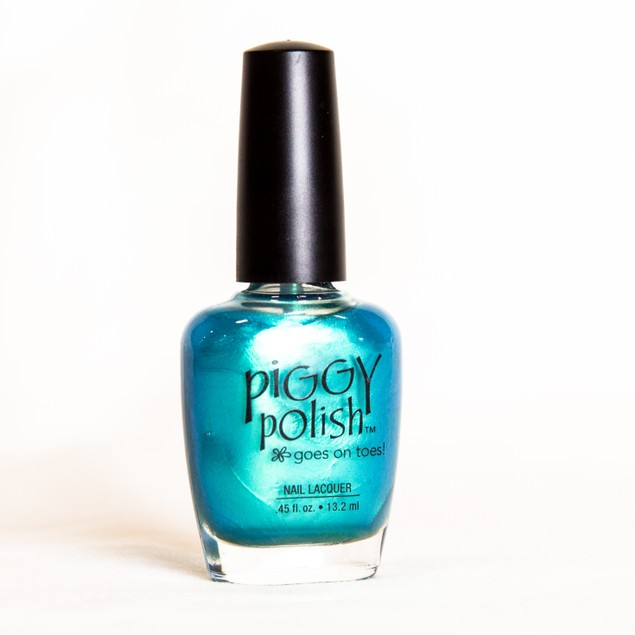 Piggy Polish Cosmo Toes, Teal Shimmer, .46 fl oz