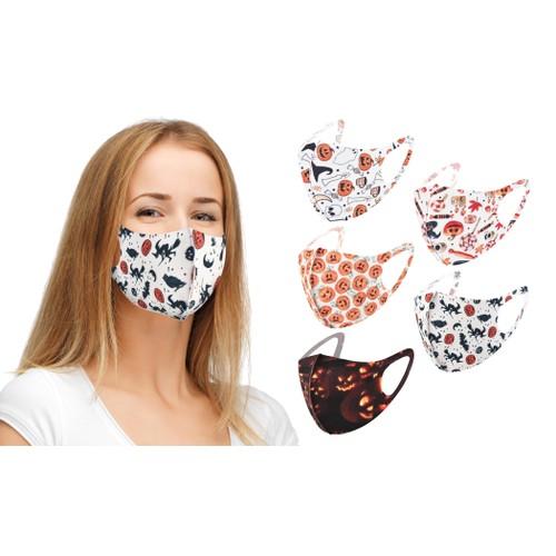 Reusable Halloween Face Masks (5-Pack)