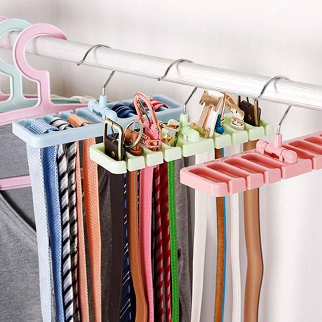 Tie Belt Organizer With Hanger - 3 Colors