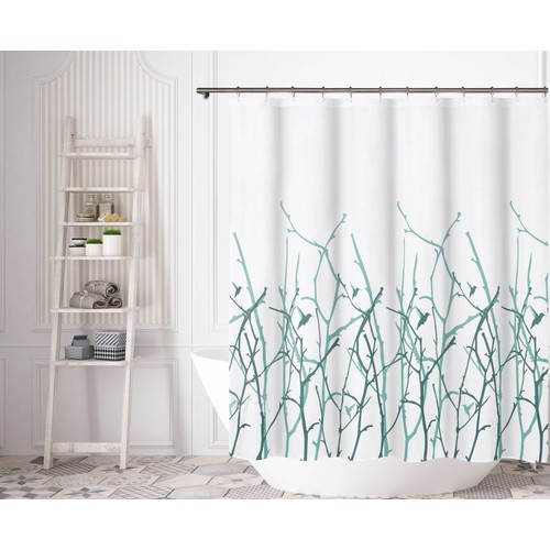 Vicki Bird with Branches Polycotton Shower Curtain