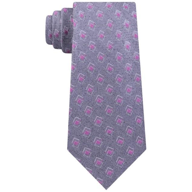 Michael Kors Men's Asymetric Squares Tie Pink Size Regular