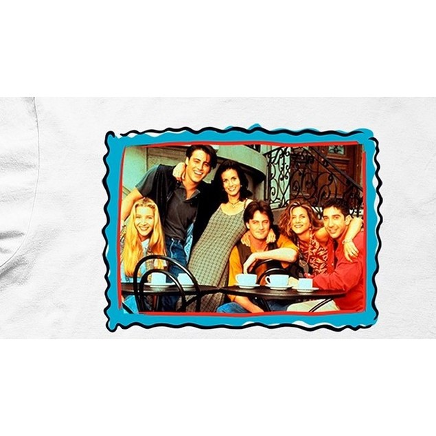 Friends Frame Men's Graphic T-Shirt White Size Extra Large