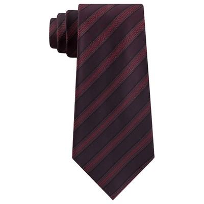 Kenneth Cole Reaction Men's Slim Metallic Dot Stripe Tie Black Size Regular
