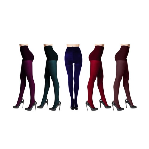 3-Pack: DKNY Women's Comfort Luxe Control Top Tights